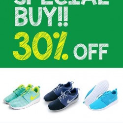 30% off selected Nike Roshe Run @ DOT