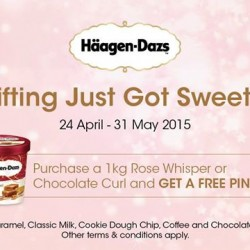 Purchase 1kg Rose Whisper or Chocolate Curl and Get A Free Pint @ Häagen-Dazs