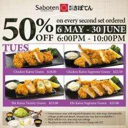 50% OFF second set order @ Saboten Millenia Walk