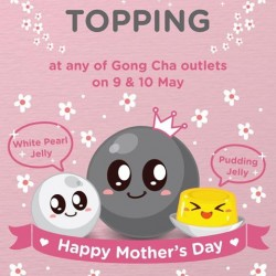 Get 1 Free Topping @ Gong Cha