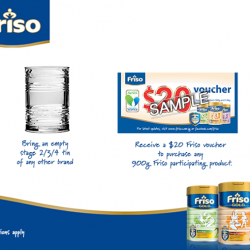 Friso tin exchange program @ Jurong Point Fairprice Xtra