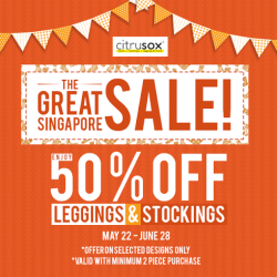 Citrusox: GSS promotion 50% OFF for Leggings & Stockings