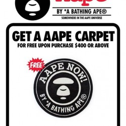 i.t Labels: Free AAPE BY A BATHING APE®'s carpet with $400 spend