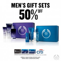 The Body Shop: Mens Gift Set at 50% OFF with your Citibank and LOVE YOUR BODY club member