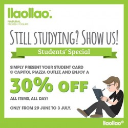llao llao: 30% Off For Students