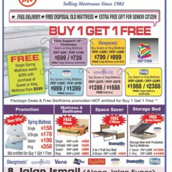 Buy 1 get 1 free @ The mattress centre