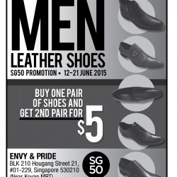 Envy & Pride: 2nd pair of men leather shoes for $5