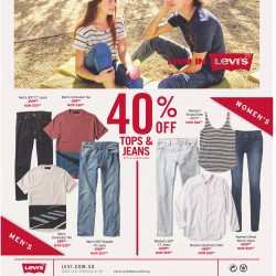 Levi's Up to 40% off tops & jeans