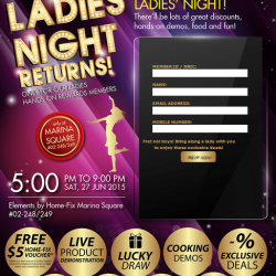 Ladies' Night 2015 For Home-fix Hands-on Rewards Members