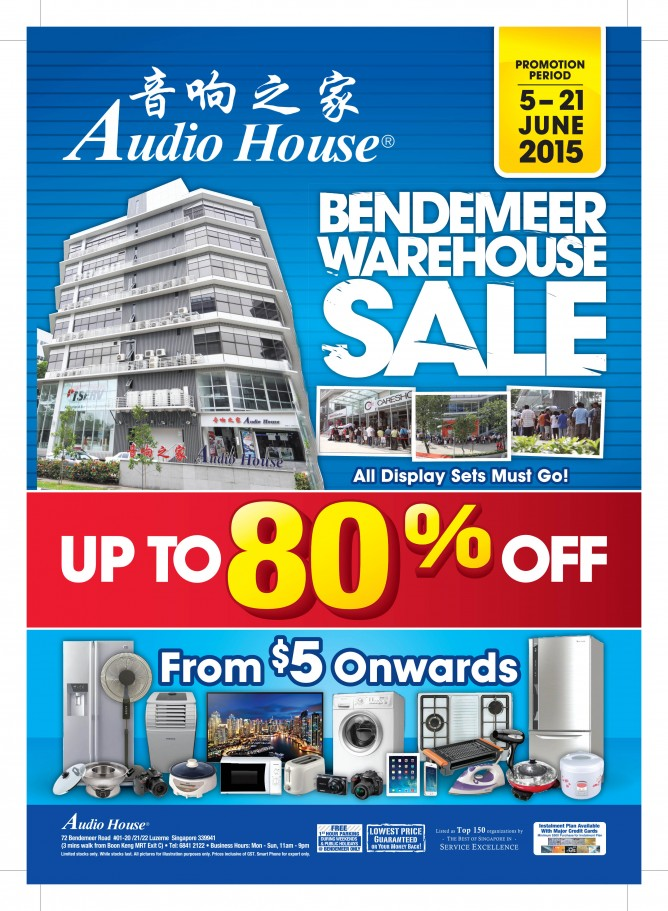 22929 04 15 AH Bendemeer Warehouse Sale A4 Mailer 6pp Cover_Blue