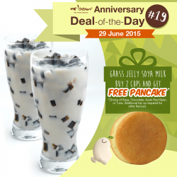 Mr Bean: Purchase 2 cups of grass jelly soya milk and receive a FREE pancake