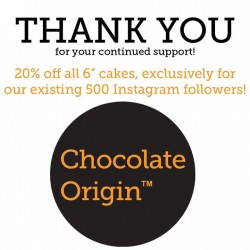 Chocolate Origin: 20% off exclusively for Instagram followers