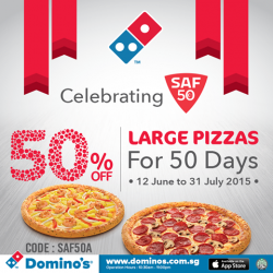 Domino's Pizza: 50% Off Large Pizzas
