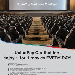 Shaw Theatres: 1-For-1 Movie Tickets