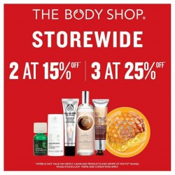 TheBodyShop: Storewide Sale Ends Tomorrow