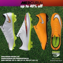 Premier Football: Nike Mercurial up to 40% off