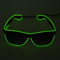eBay: EL Wire Neon LED Light Up Glasses