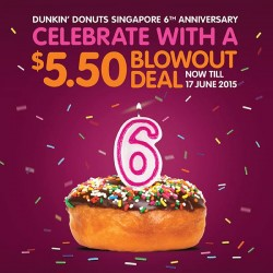 Dunkin' Donuts: 3 Regular Donuts and an Iced Americano at just $5.50