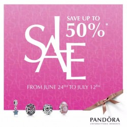 Pandora: Mid-Year Sale has started --- Up to 50% sale
