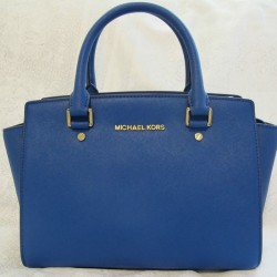 Jomashop: MICHAEL KORS Selma Medium Satchel - Electric Blue