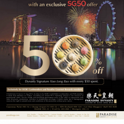 Paradise Dynasty: 50% Off Signature Xiao Long Bao with every $50 spent