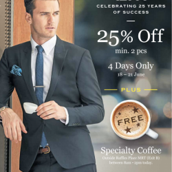 G2000: 25% Off Min. 2pc + Free Coffee