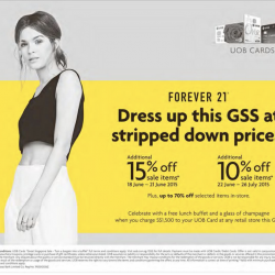 Forever 21: Up to 70% sale items + extra 15% off