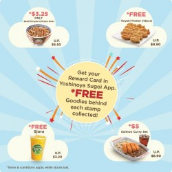 Yoshinoya: Get your loyalty digital card when you download Yoshinoya Sugoi App