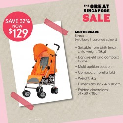 Mothercare: GSS Strollers promotion