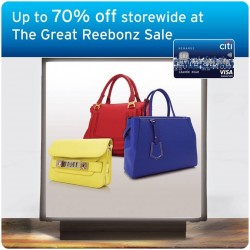 Citibank: Up to 70% off at The Great Reebonz Sale
