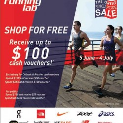Running Lab: Receive up to $100 cash vouchers
