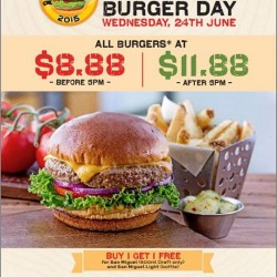 Chili's 5th Burger Day this 24th June, offering burgers at S$8.88 and more