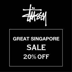 Stussy: Great Singapore Sale Special --- 20% off current spring 2015 collection