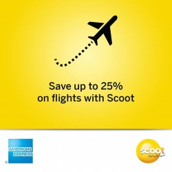 UOB American Express Card : Save up to 25% on eligible Scoot Economy and ScootBiz fares
