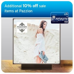 Pazzion: Additional 10% off GSS Sale with Citibank Cards