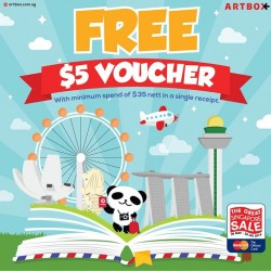 Artbox: Free S$5 Voucher with a minimum of S$35 spent