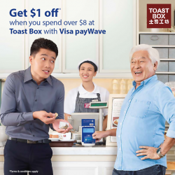 Toast Box: Get $1 Off when you Spend Over $8 --- With Visa payWave