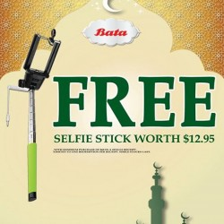 BATA: Free Selfie Stick ( Worth $12.95) With Minimum Purchase of $68