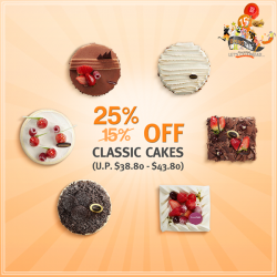 BreadTalk: Bigger birthday party @ get any whole cakes at 25% off (U.P $38.80 - $43.80)
