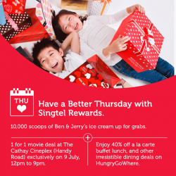 Cathay Cineplexes: 1-For-1 Movie Deal