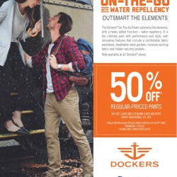 Dockers: 50% OFF Regular-Priced Pants