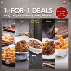 Pizza Hut:1-for-1 Deals --- 2 for the price of one