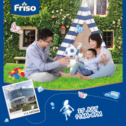 Friso: Experience Truck at 112 Katong to Win Surprise gift and be Rewarded with a $20 Friso voucher