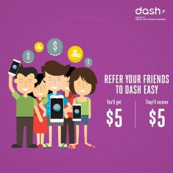 Refer your friends to Dash Easy and get S$5 Credits each