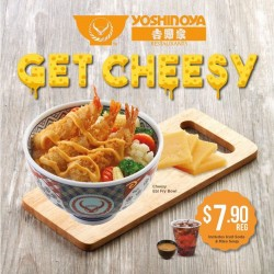 Yoshinoya:Cheesy Ebi Fry Bowl $7.90 --- Includes Ice soda & Miso Soup