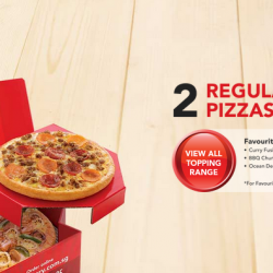 Pizza Hut: 2 Regular pizzas for 1 Price