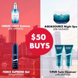 Biotherm: Purchase any products at ONLY $50