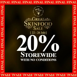 Skinfood: 20% off Storewide with No Condition