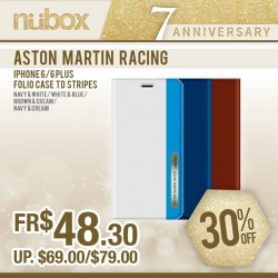 nübox: Aston Martin Racing Folio TD case for iPhone 6/6 Plus