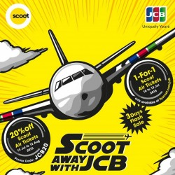 Scoot: Summer Special Deals Exclusively for UOB JCB Cardmembers